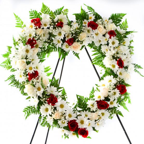 Blissful Heart Wreath